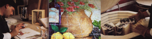 Floro Flosi has been making handcrafted ceramic tiles since 1980.  His artistc tiles have been featured in many magazines.